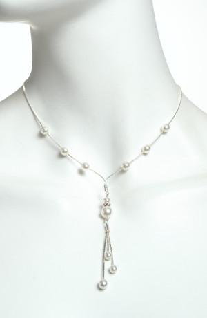 Náhrdelník perličky na kovu