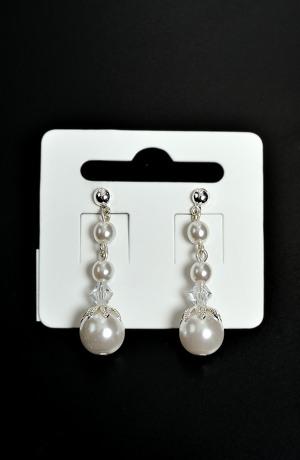 Náušnice visací perličky