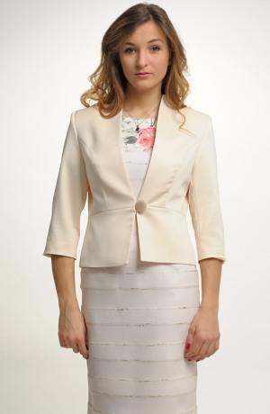 Kabátek s 3/4 rukávem z plastické tkaniny