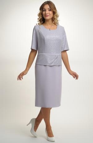 Dámské společenské šaty vhodné pro plnoštíhlé