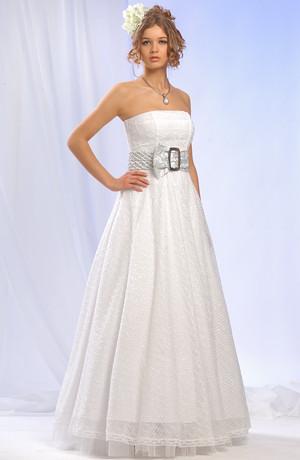 Korzetové svatební společenské šaty bez ramínek - korzet a sukně. Vel. 38