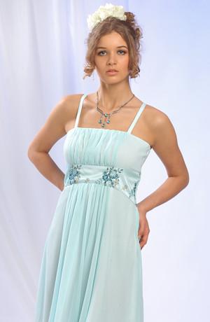 Dívčí letní společenské šaty vhodné na svatbu a jiné letní společenské akce, vel. 38, 40, 42