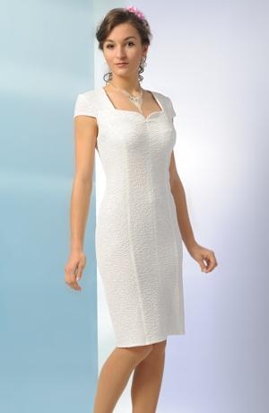 Krátké bílé šaty s rukávky