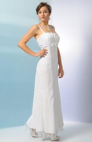 Elegantní svatební šaty s jednoduchým sedlem