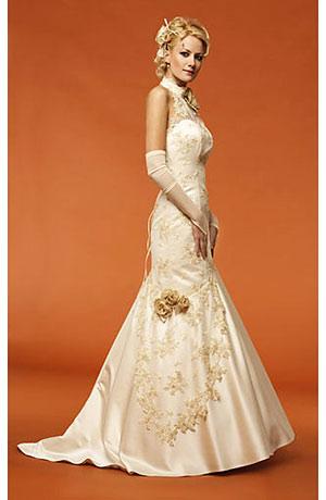 Svatební šaty do stojáčku