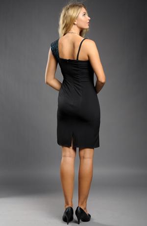 Elegantní krátké plesové šaty s řasením