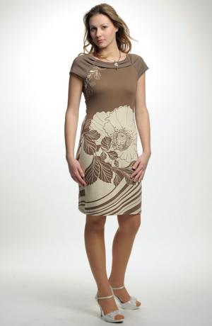 Pleteninová šatová sukně s řasením u výstřihu