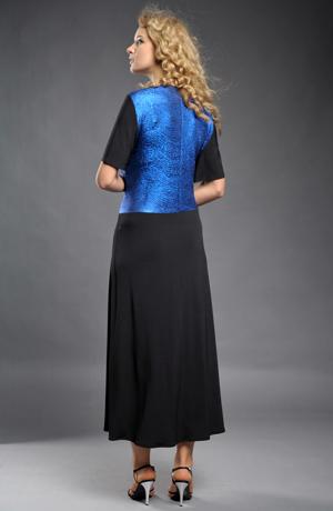 Dlouhé společenské šaty pro plnoštíhlé