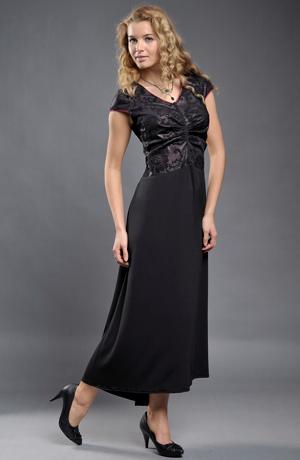 Dámské společenské šaty vhodné pro nadměrné velikosti (XL, XXL, XXXL)