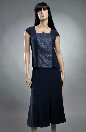 Exclusivní dámský kostým a top pro společenské příležitosti.