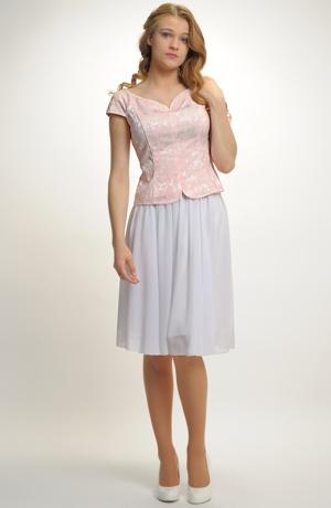 Dívčí komplet na svatbu s kolovou sukní