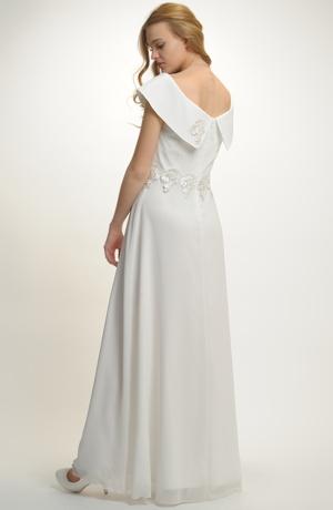 Elegantní dlouhé šaty na svatbu