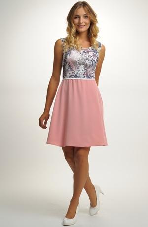 Dívčí společenské šaty mladistvého střihu, vel. 38