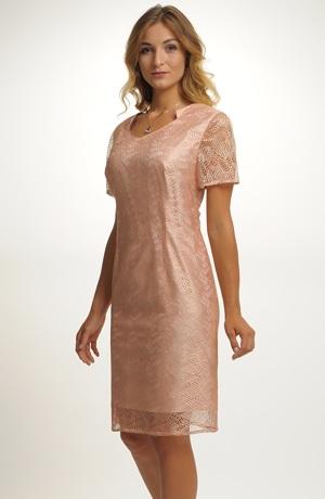 Dámský komplet - pouzdrové šaty s delším kabátkem