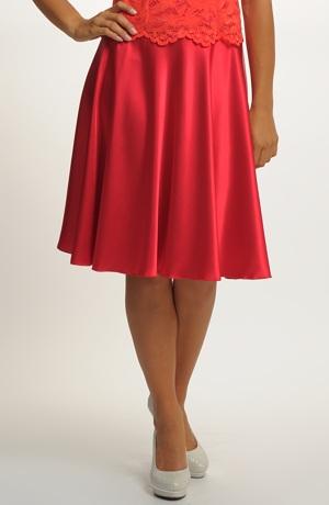 Elegantní kolová sukně