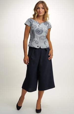 Kalhotový komplet - kalhotová sukně a top