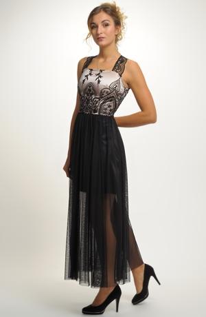 Luxusní dlouhé dívčí šaty vhodné na ples, do tanečních, na maturiťák, na prodlouženou.....