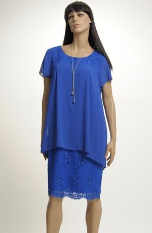 Šifónové šaty s krajkou