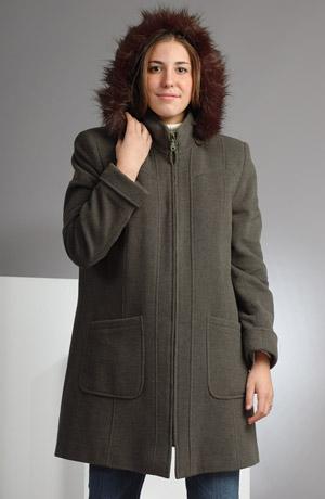 Elegantní dámské paleto na zip v tříčtvrteční délce.