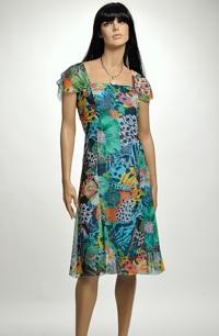 Krátké společenské šaty vhodné i pro velikost XXXL, 44, 46,