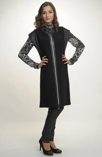 Dámská pletená vesta na zip