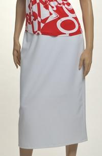 Úzká bílá sukně