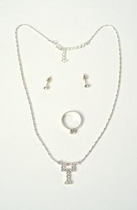Svatební náhrdelník, náušnicea a prstýnek