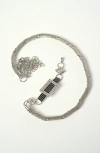 Pásek na svatební šaty ze stříbrného kovu
