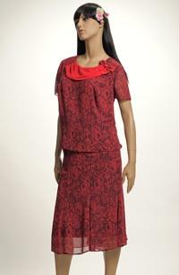 Letní šifónový top se sukní pro plnoštíhlé