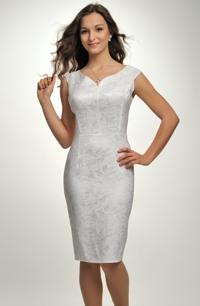 Krátké bílé společenské nebo svatební šaty vhodné pro vel. 38, 40, 42.
