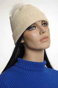 Čepice ze smetanové pleteniny