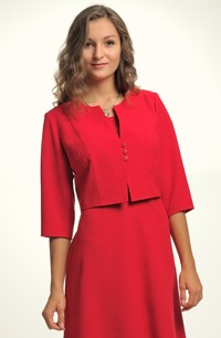 Červený krátký kabátek