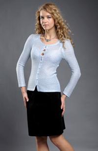 Sleva -dámský pletený kabátek z jemné krajkové pleteniny