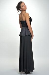 Plesové korzetové šaty s živůtkem se šůskem a bohatou kolovou sukní