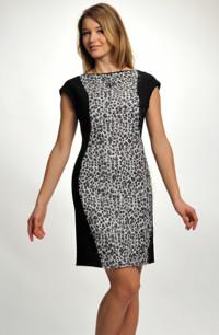 96cc3b29287a Elegantní společenské šaty se zvířecím dezénem v zeštíhlující siluetě