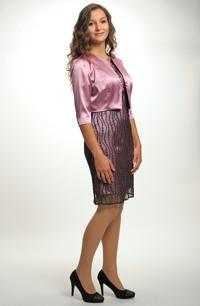 Saténový kabátek k šatům - fialkový