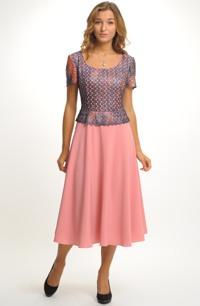 Elegantní společenské šaty s krajkou