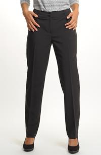 Černé zúžené kalhoty s puky