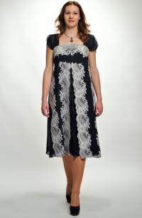Elegantní krajkové šaty na širší ramínka. Vel. 38, 40, 42, 44