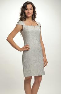 Jednoduché elegantní společenské šaty na promoci z luxusního žakáru . Vel. 38, 40, 42