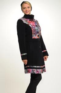 Dámský luxusní kabát se vzorem