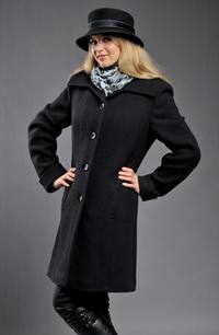 Černý, dámský, zimní kabát s vafličkovým vzorem