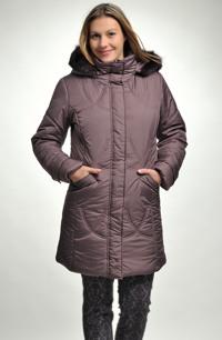 Prošívaná dlouhá bunda-kabát