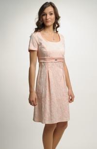 6c2113d11f33 Dívčí empírové šaty s rukávky a ozdobnou stuhou pod prsy.