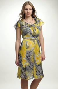 Dámské šaty ze šifonu - sleva pouze ve velikosti 42