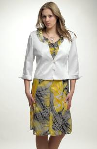 Kratší kabátek vhodný na šaty