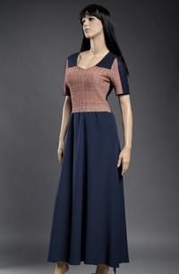 Pletené šaty s melírovaným sedlem