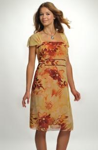 Lehké společenské šaty s výrazným vzorem , vel.50