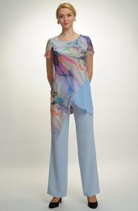 Elegantní kalhotový komplet s tunikou