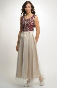 Dlouhé plesové šaty pro velikosti, 36, 38, 40, 42